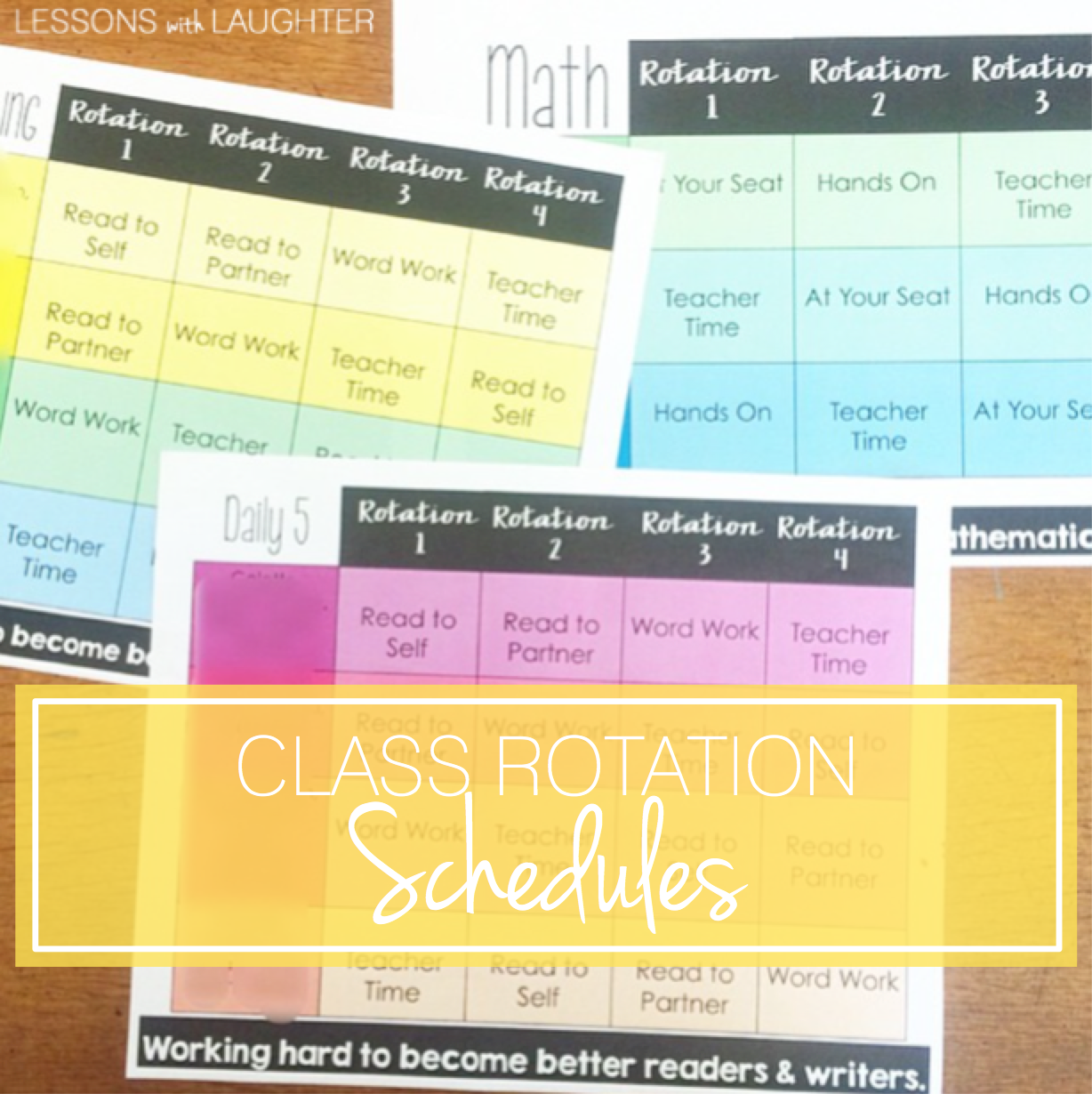 Class Rotation Schedules (Reading, Math, & Spelling) - Lessons With ...