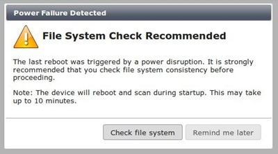 IT Security - Multi Platform : File System Check Error in