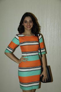 Actress Tamanna Stills in Short Dress at Oopiri Special Screening  0005