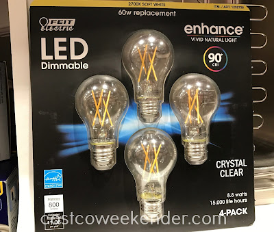 Ensure your home is well lit with the Feit Electric 60w Crystal Clear Filament LED