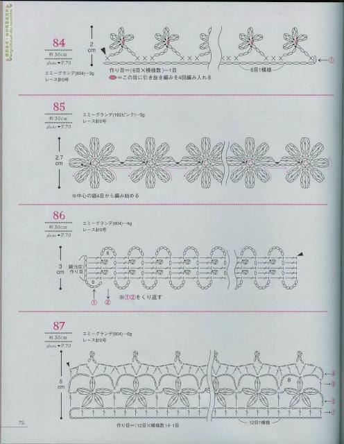 Motivos de Crochê Com Gráfico 27