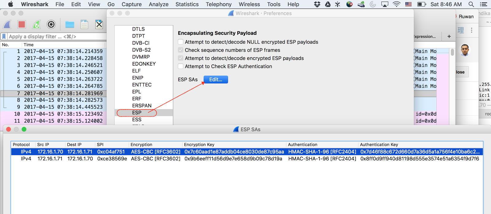 Ruwan's techno Blog: IPsec capture with decryption information
