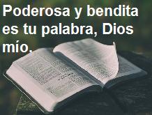 Habla las buenas palabras de Dios