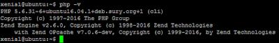 Gambar versi php pada ubuntu 16.04