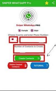 menu pencarian kontak whatsapp