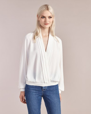 Atterley Road Ivory Drape Blouse