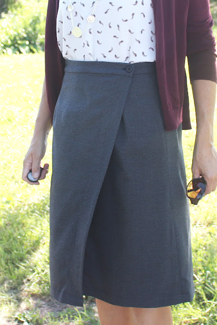 Indie Sew Fall skirt week - Nita Wrap skirt details