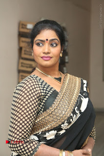Telugu Actress Jayavani Jayavani Stills in Black Saree at Intlo Deyyam Nakem Bhayam Success Meet  0001.JPG