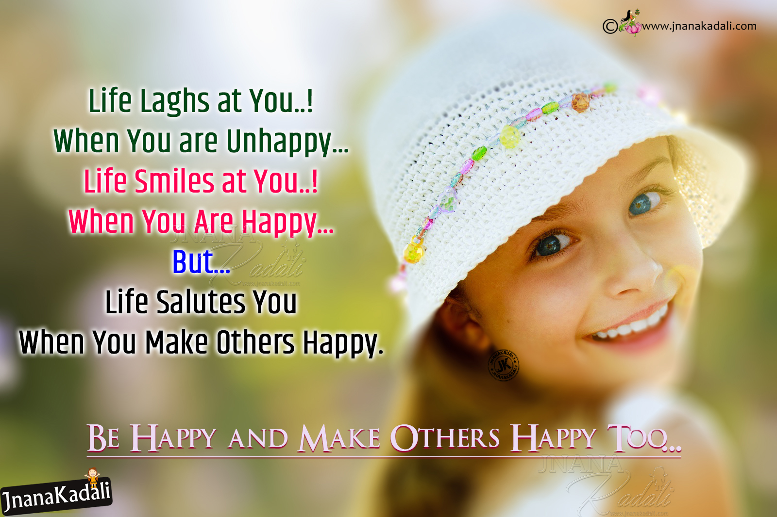 Be Happy Ever and Make Others Happy-English Being ...