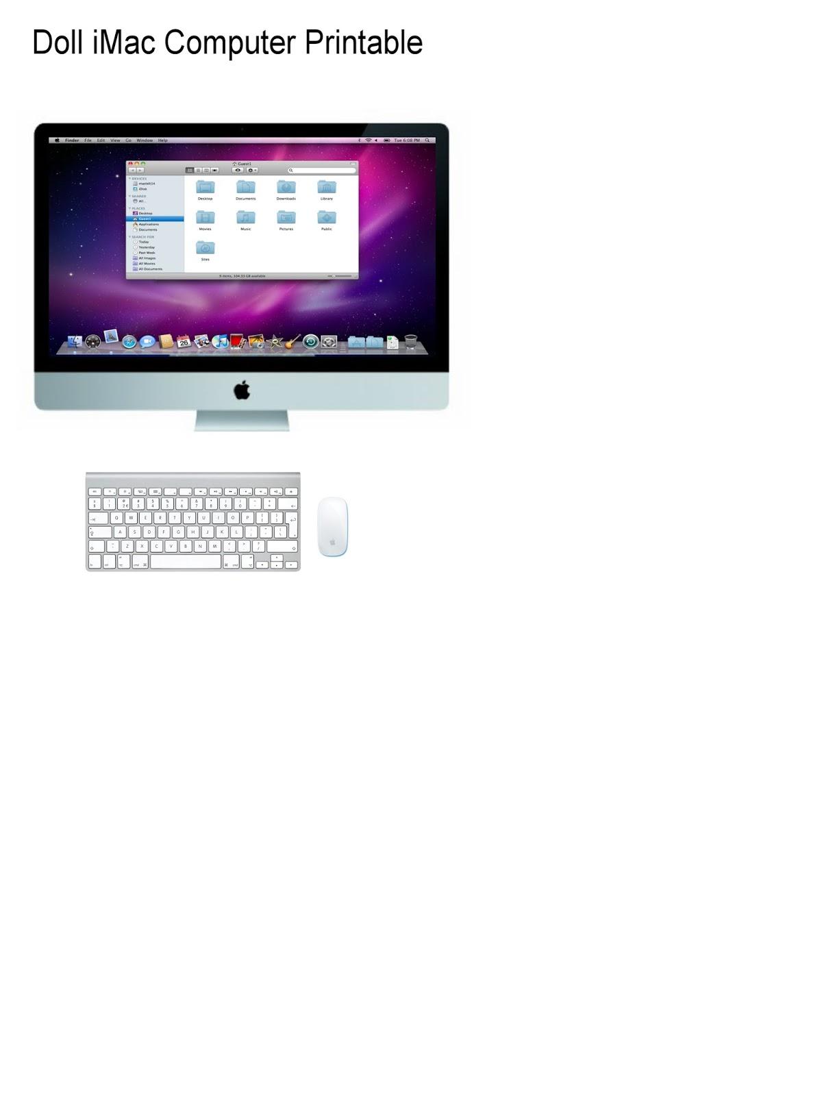 uCreate: Doll Apple iMac Template