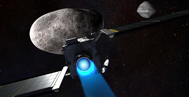Illustration of the DART mission. Credit: NASA