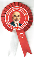 Mehmet Akif Ersoy'u anma programı için hazırlanmış bir kokart