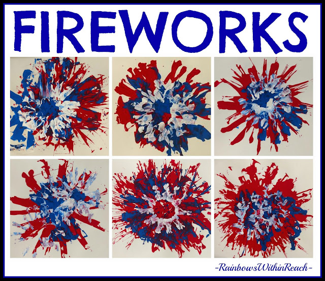 Painted Fireworks in Kindergarten