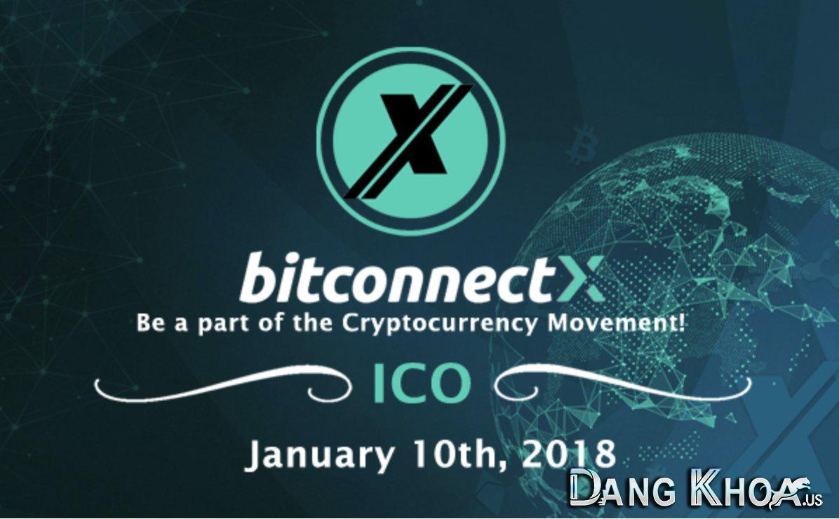 Banner của dự án ICO sắp ra mắt có tên BitconnectX