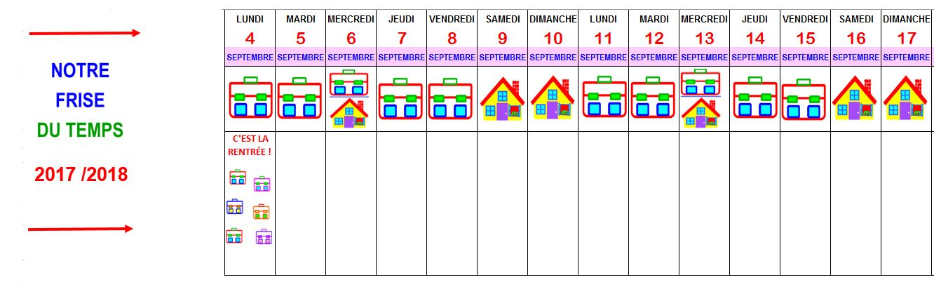 Calendrier Mensuel Maternelle.Calendrier A Imprimer Maternelle