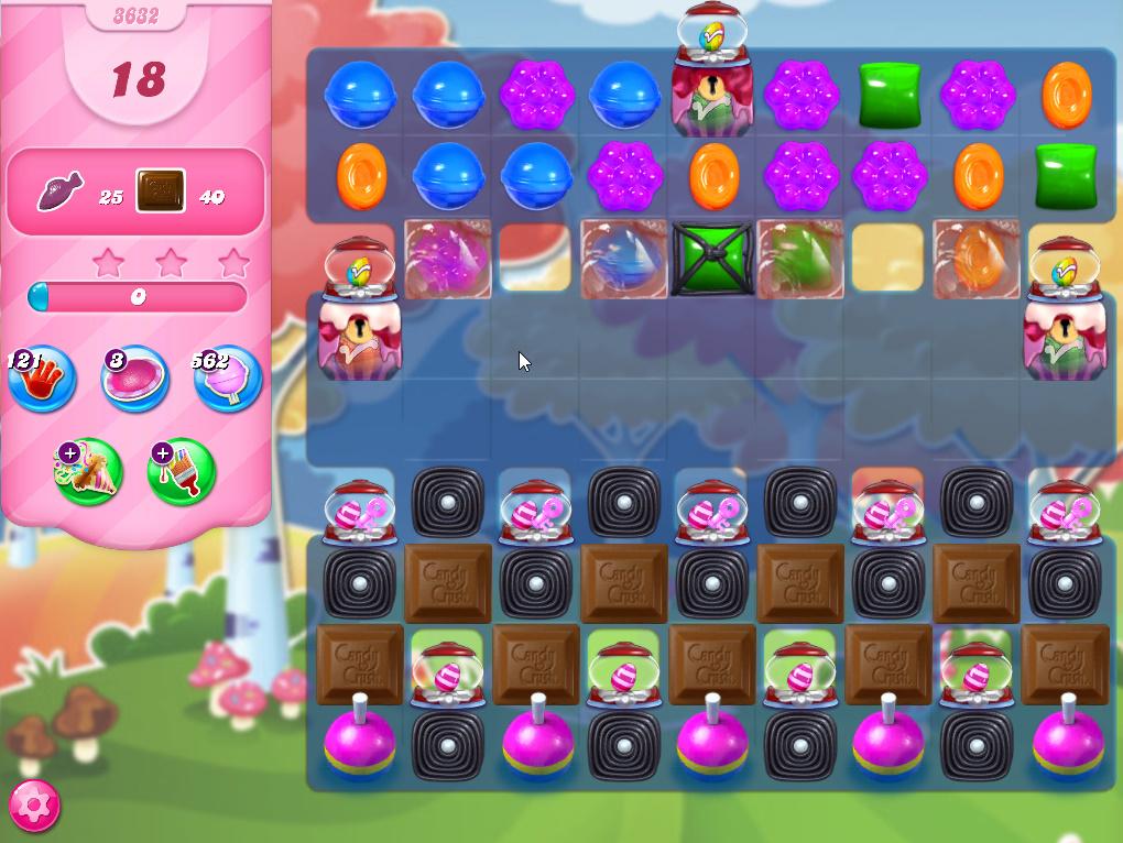 Candy Crush Saga level 3632