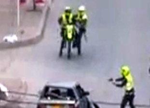 Ladrones Sometidos por Policia Colombiana