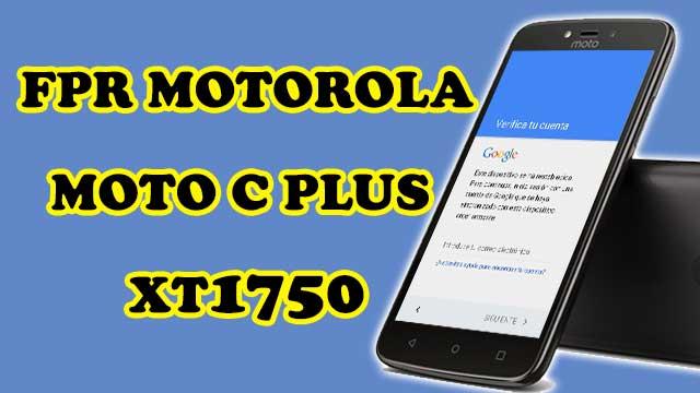 quitar cuenta Google Motorola Moto C Plus XT1750