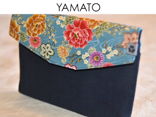 iPad Mini Tasche aus japanischen Stoffen von Noriko handmade, handgemacht, Einzelstück, Unikat, Design, Hülle