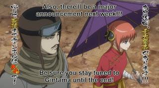 """Gintama mendapatkan """"Pengumuman Penting"""" Minggu depan!!"""