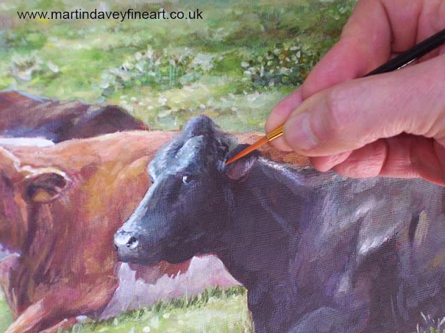 wip art of new forest cows martin davey