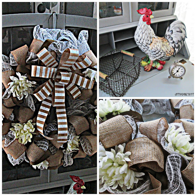 Decorate your desk, hutch, door with handmade wreaths