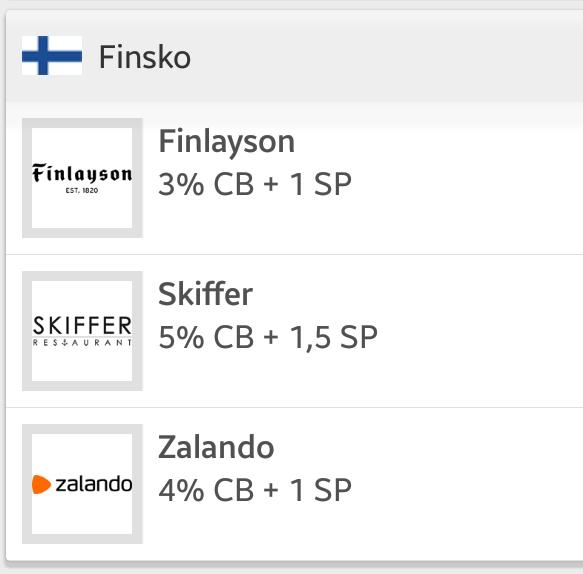 eVoucher Finsko - Finland - Cashback World