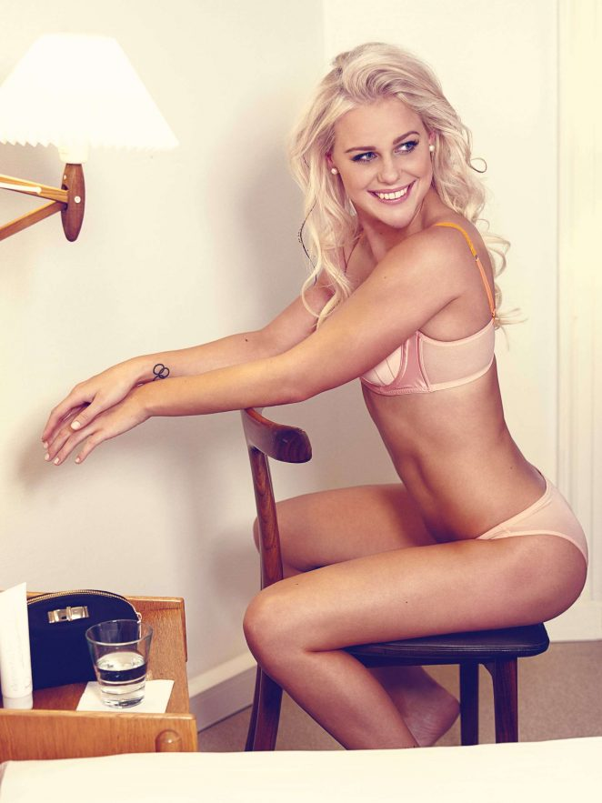 Olympic Swimmer Pernille Blume strips to lingerie for photoshoot
