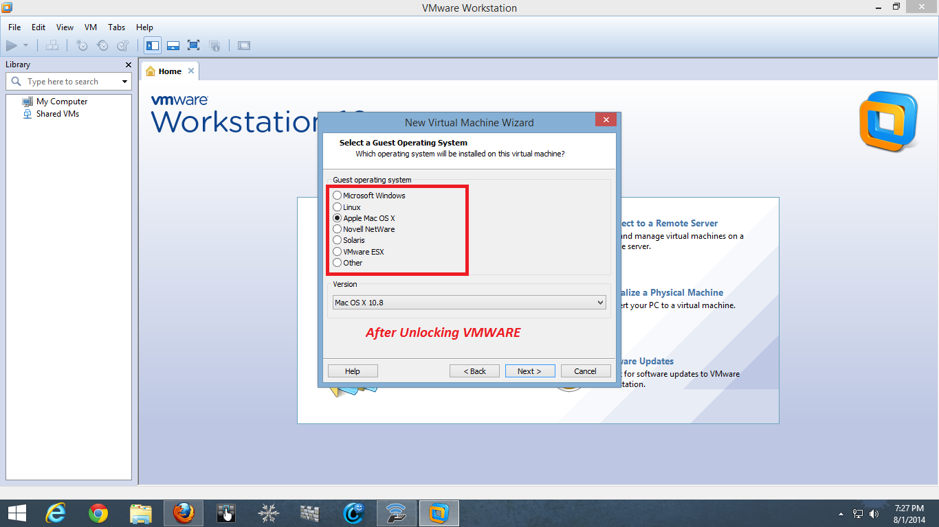 Mac Os For Vmware Workstation 8
