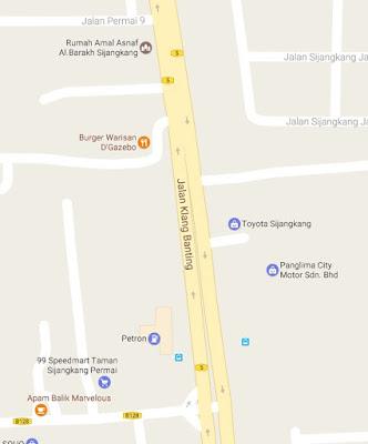 Google Maps Lokasi Burger Gazebo Sijangkang