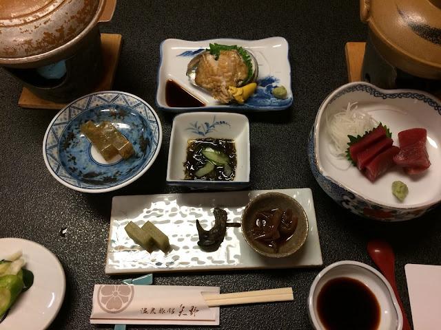 温泉旅館矢野の夕食