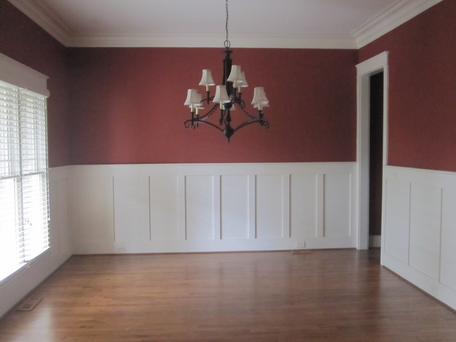 Red Dining Room Chair Rail Paint Car Design Today •