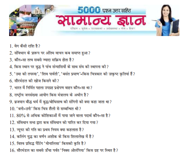 Science 5000 Questions in Hindi PDF - VISION