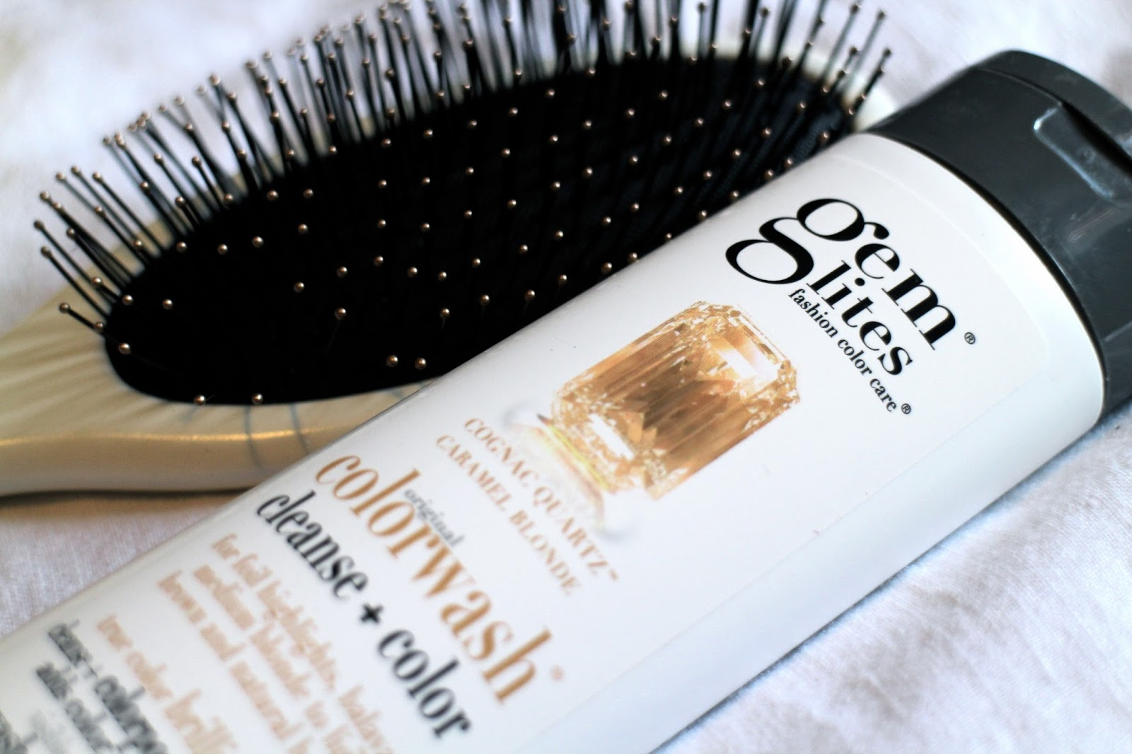Marula Oil brush and Gem Lites colorwash shampoo