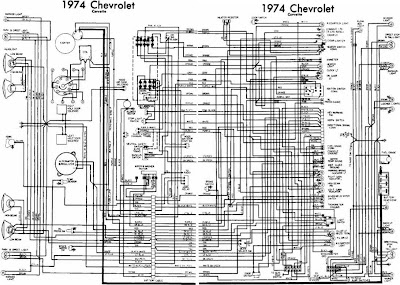 chevrolet corvette 1974 complete electrical wiring diagram. Black Bedroom Furniture Sets. Home Design Ideas
