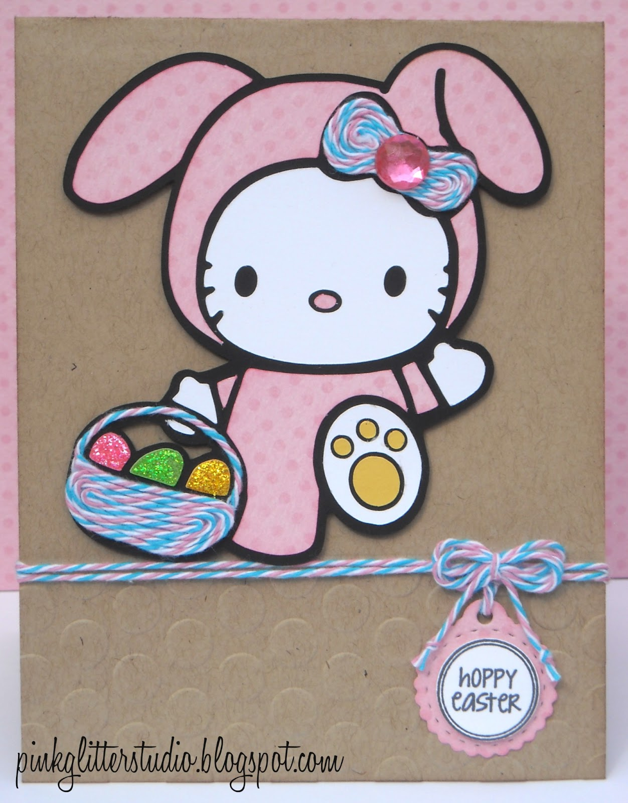 Hello Kitty Tarot Deck: Pink Glitter Studio: Hello Kitty Bunny