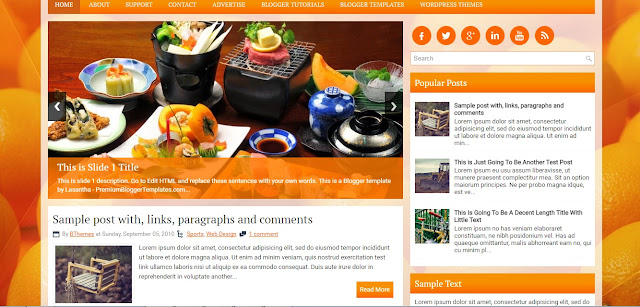 HealthyLiving Blogger Template / Theme