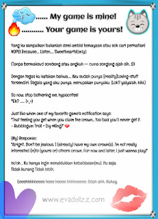 9 (App-Arts) Hitam Di Atas Putih. My game is mine; Your game is yours!