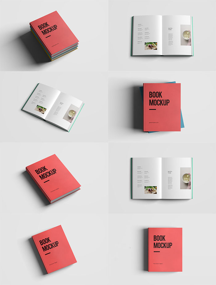 Simple Book Cover Design Psd : Free book mockups psd for cover designs tinydesignr