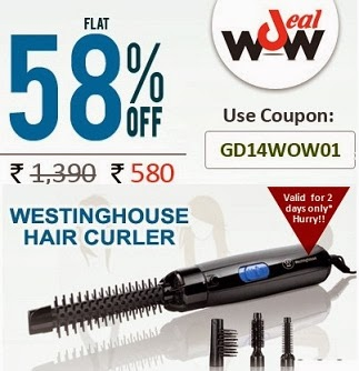 Westinghouse Hair Curler worth Rs.1390 for Rs.580 Only at Greendust