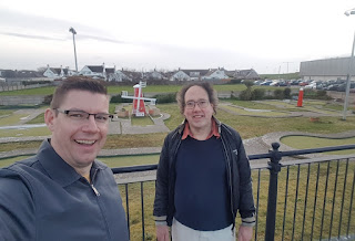 At the Crazy Golf course on Bastion Road in Prestatyn