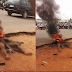 Alleged Motorcycle thief caught & burnt in Niger State  ...photo