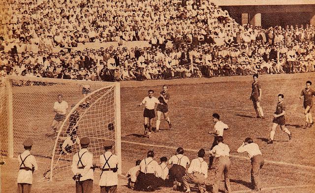 Chile y Bolivia en partido amistoso, 12 de marzo de 1950