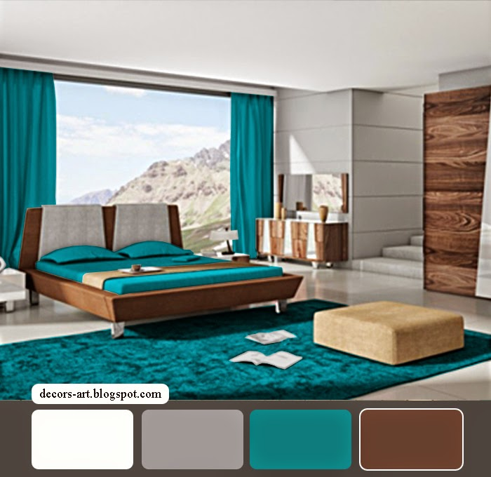 Turquoise Bedroom ideas . Modern ideas