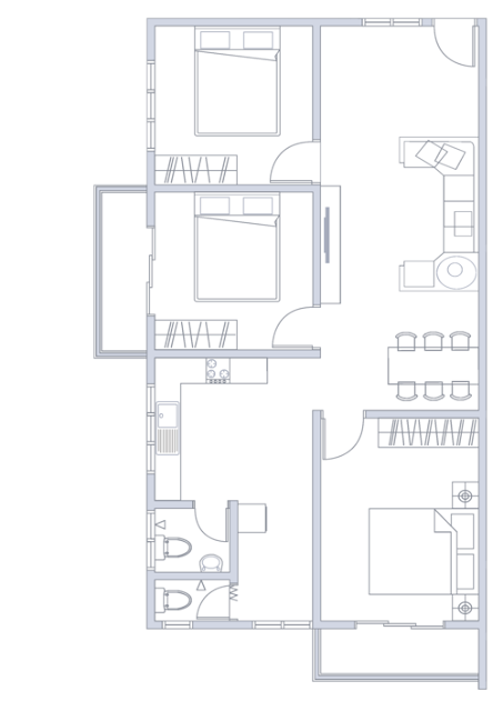 Plan Rumah UNIT TYPE C