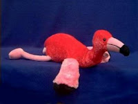 pink flamingo plush stuffed animal toy