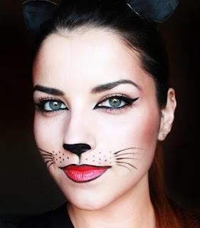 girl makeup to cat halloween