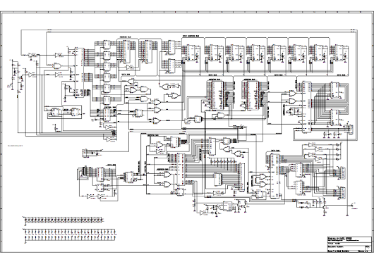 Diagrama redesenhado da placa CPU do HOTBIT