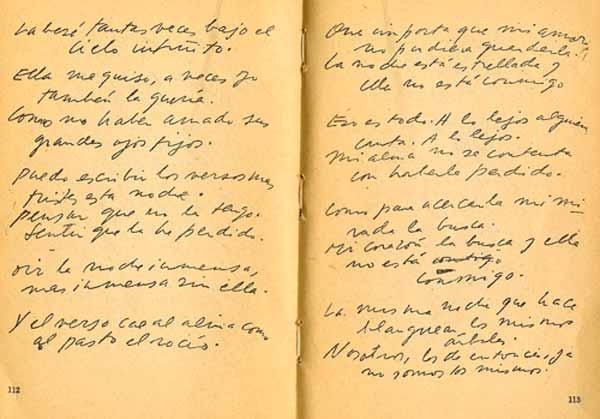 Littera Veinte Poemas De Amor Y Una Canción Desesperada De