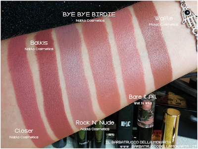 BYE BYE BIRIDIE COMPARAZIONI diva crime goldust collection Nabla cosmetics